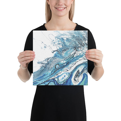 Canvas Wrapped Print - Teal Wave