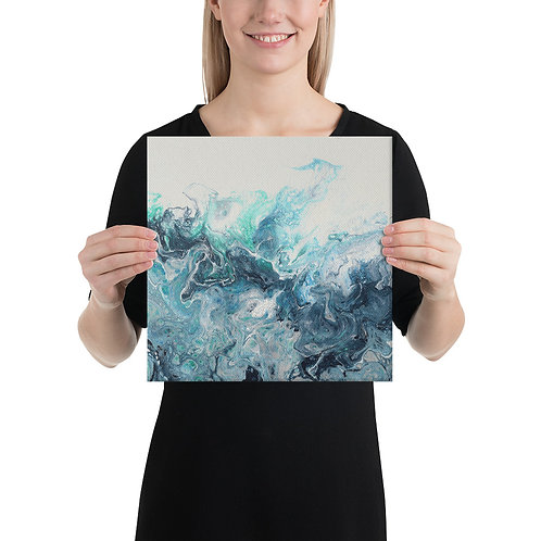 Canvas Wrapped Print - Green Wave