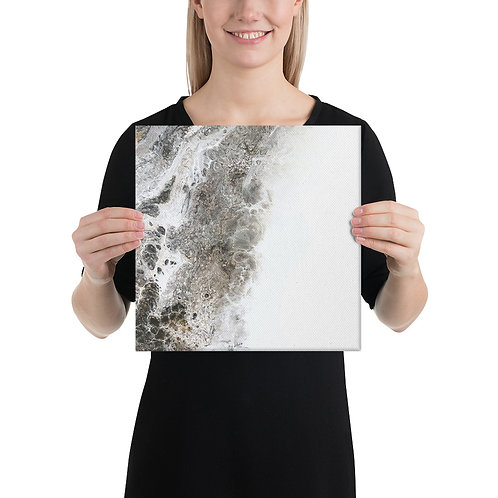 Canvas Wrapped Print - Rock and Snow
