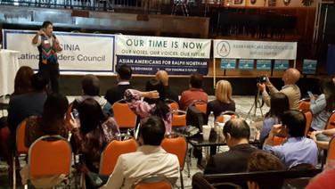 VLLC president Walter Tejada welcomes participants.
