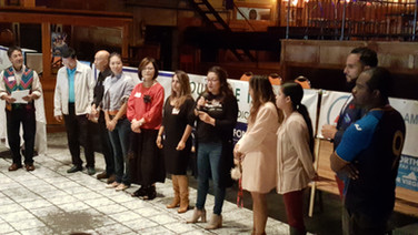 Representatives from the sponsoring organizations