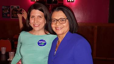 Arlington School Board Member Tannia Talento with Ignacia Moreno