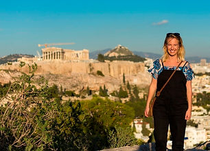 Laura Alice behind the scenes in Athens, Greece