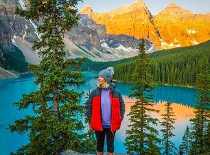 Laura Alice at Moraine Lake, Canada.
