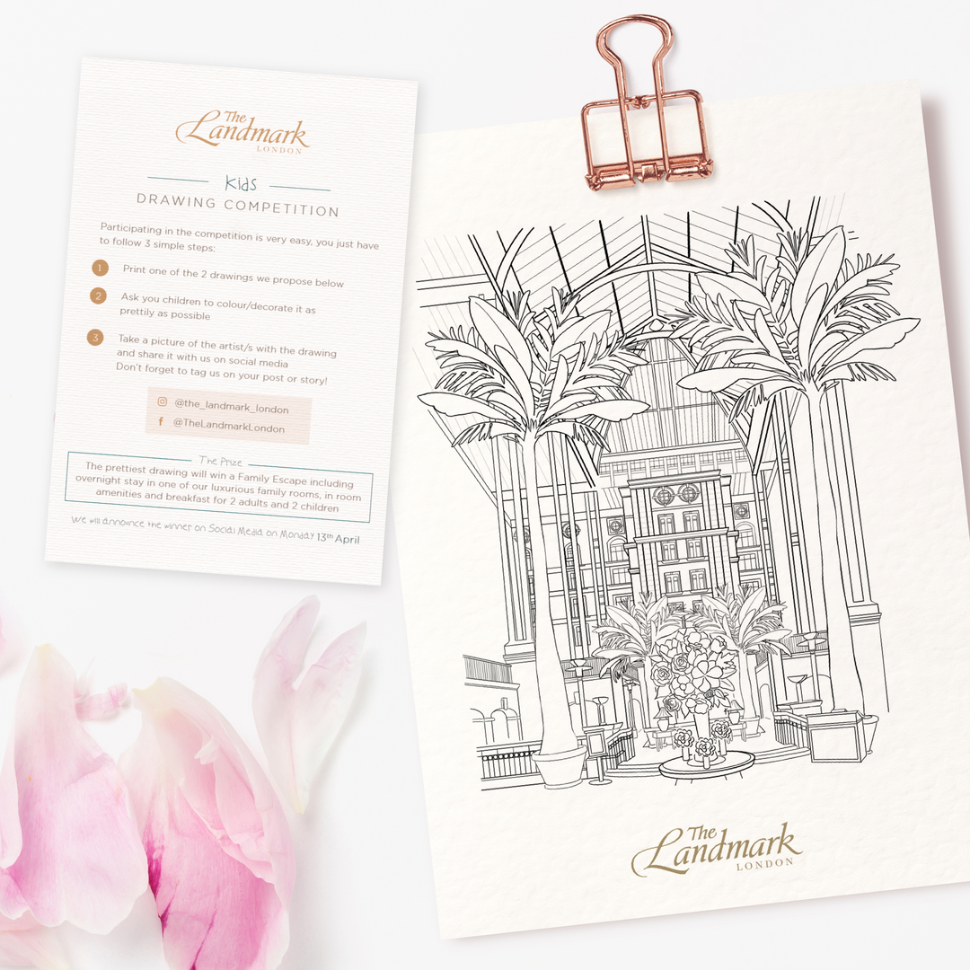 The Landmark London Colouring Page