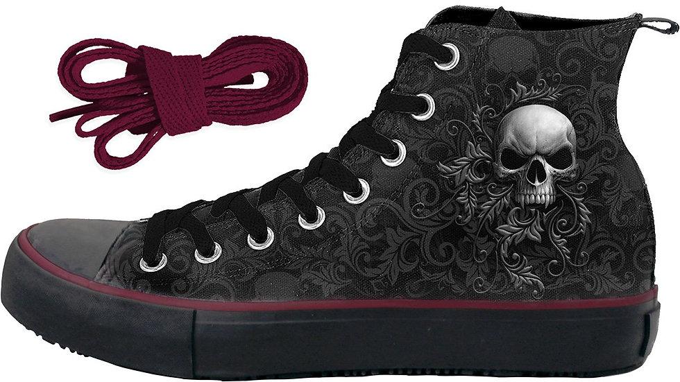 SKULL SCROLL - Sneakers - Men's High Top Laceup
