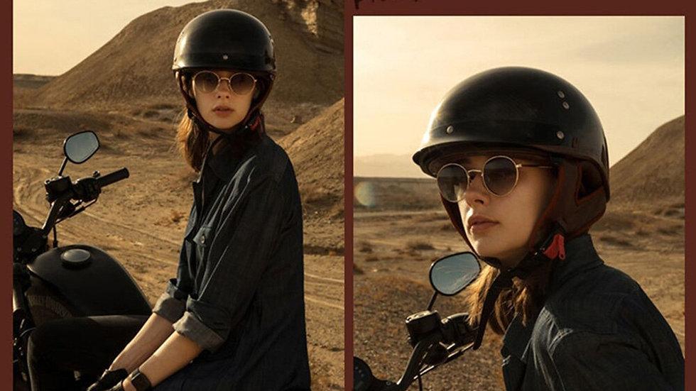DOT Certification Retro Motorcycle Helmet Vintage Half Face Casco Moto