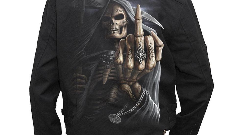BONE FINGER - Lined Biker Jacket Black