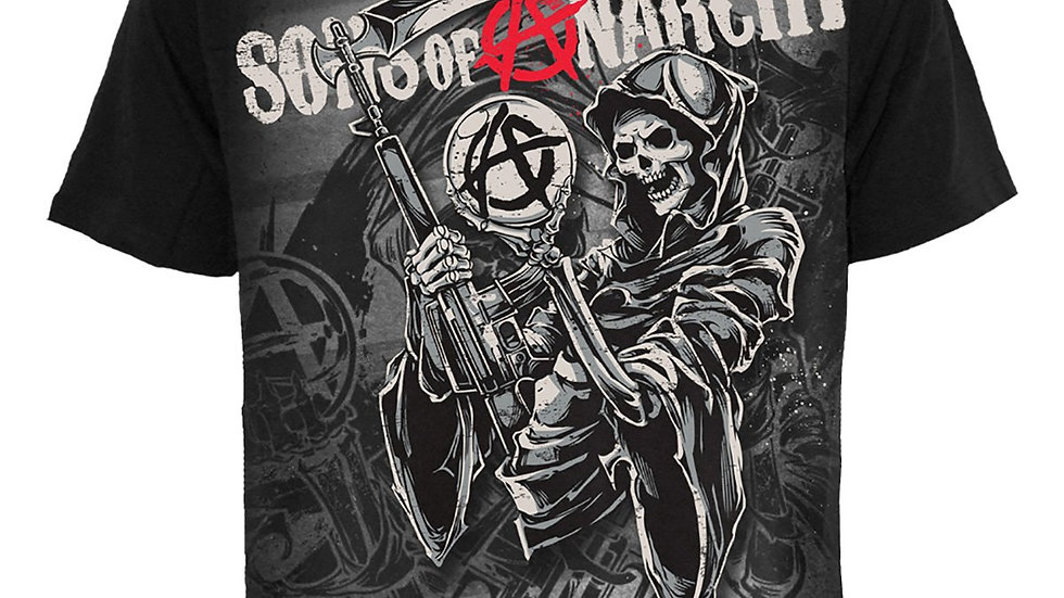 REAPER MONTAGE - Sons of Anarchy T-Shirt Black
