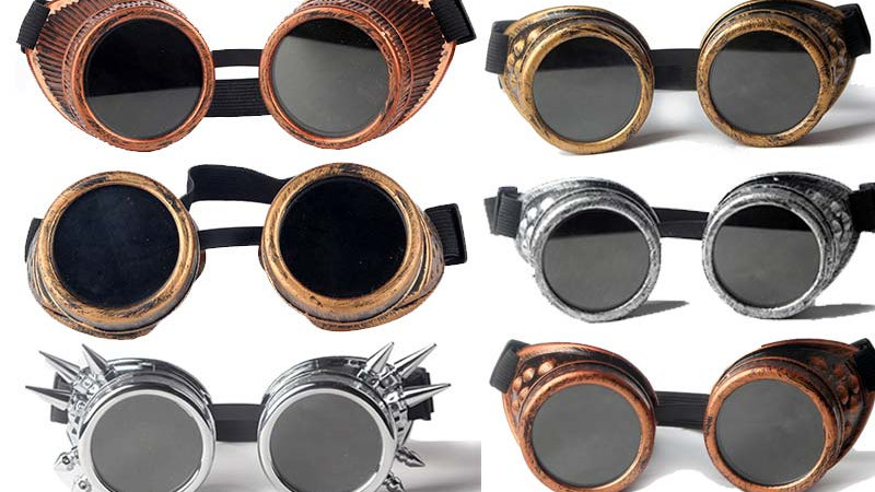 Cosplay Vintage Victorian Rivet Gothic Steampunk Cool Men Women Welding Goggles