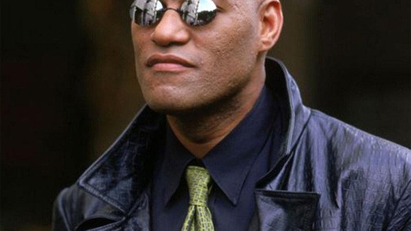 Round Rimless Sunglasses Men Matrix Morpheus UV400