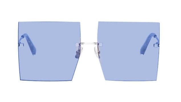 Oversized Rimless Square Sunglasses Women New Luxury Brand Fashion
