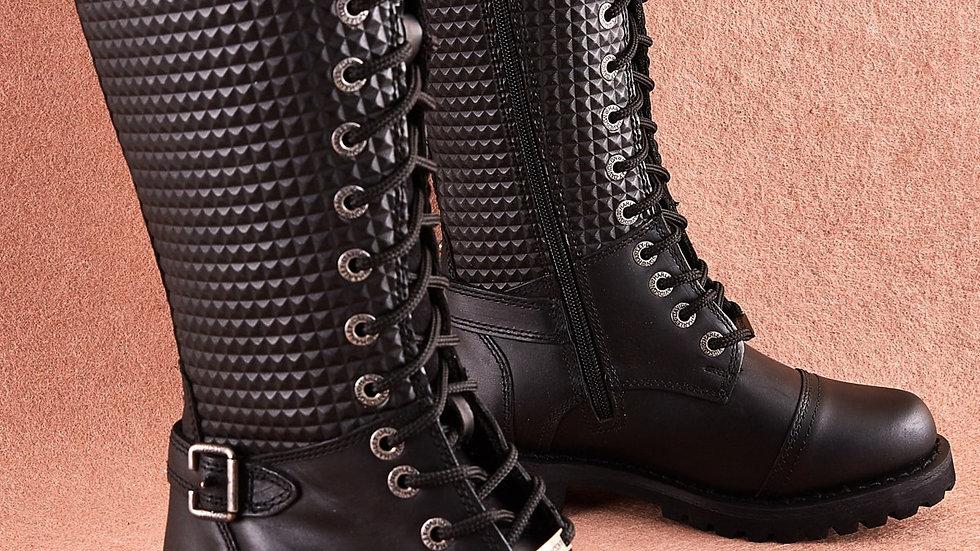 Harley Davidson Original Tiny Black Boots Women Genuine Leather