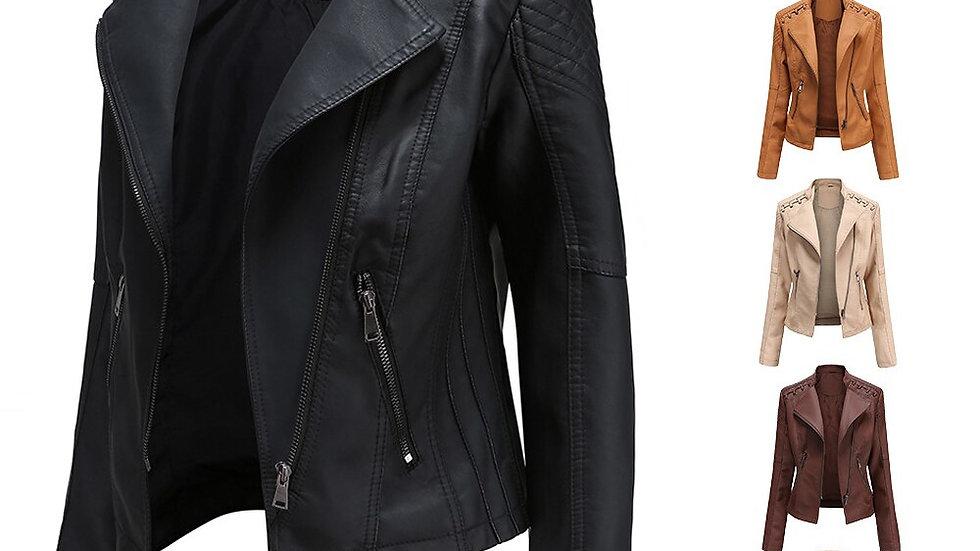 Women Clothing Leather Jacket Leather Blazer Women Biker