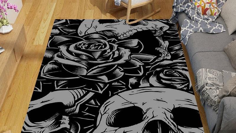 Skull Cartoon Anime Floor Mat Rug Carpet