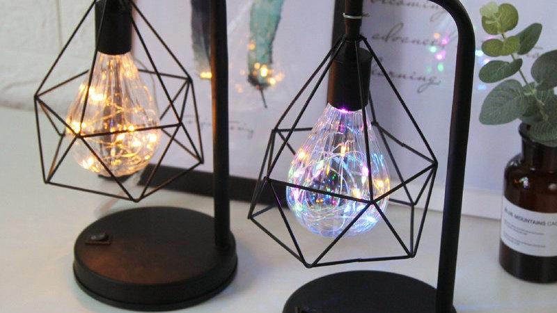 Diamond Shape LED Desk Lamp Touch Dimming Adjustment Table Lamp