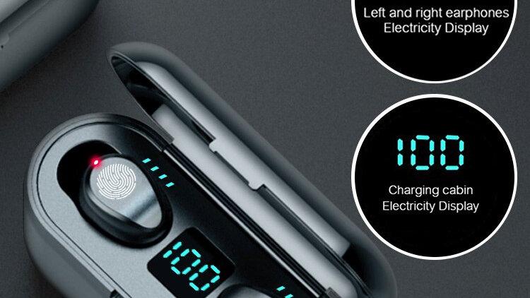 TWS Bluetooth Headphone 5.0 Touch Control Wireless Headset LED Display Earphone