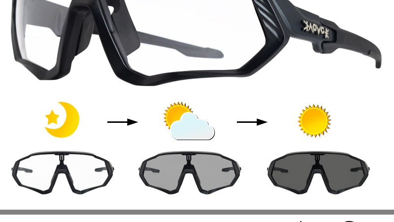 Photochromic Cycling Sunglasses Men Women Sport Road Mountain Bicycle Glasses