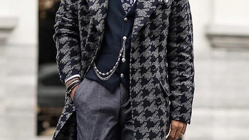 Mens Casual -Down Collar Outerwear Autumn Winter