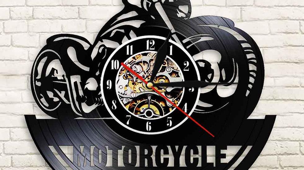 American Motorcycle CD Vinyl Record Wall Motorbike Garage Cave Biker Watch