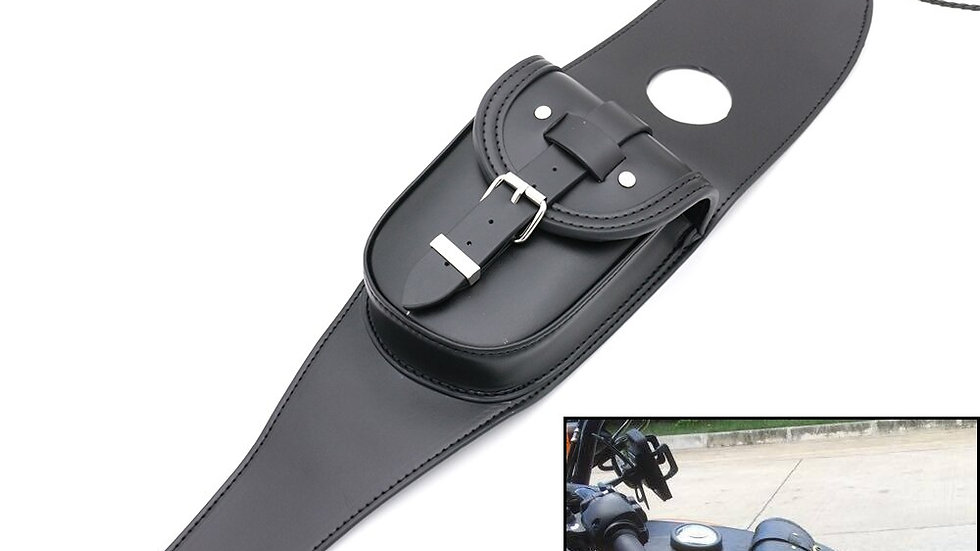 Leather Motorcycle Tank Bag Cover Panel Pad  Harley SPORTSTER XL883 1200