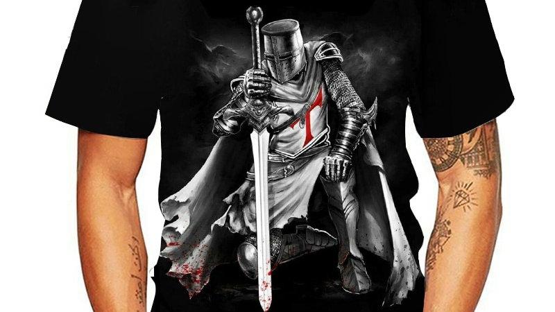 Knights Templar 3d Print T Shirt Knights Templar Fashion Casual T-Shirts