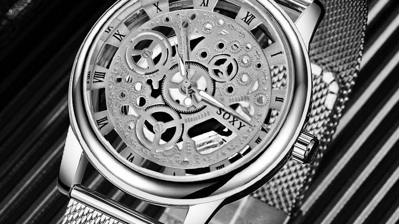 SOXY Deluxe Hollow Men's Watch Quartz Stainless Steel