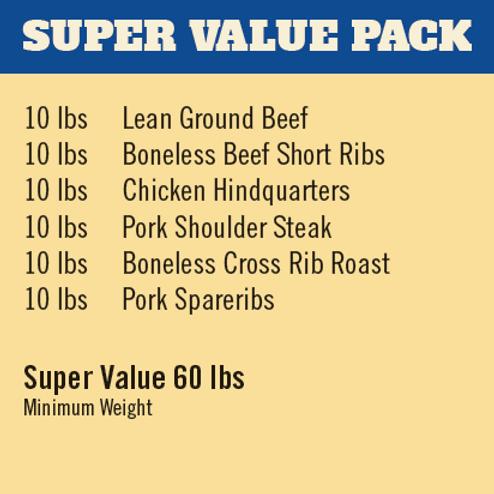 SUPER VALUE MEAT PACK
