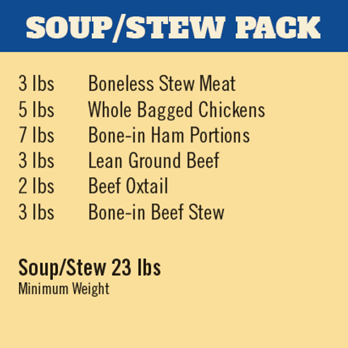 SOUP & STEW MEAT PACK