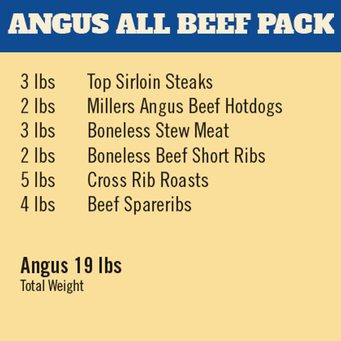 ANGUS ALL BEEF MEAT PACK