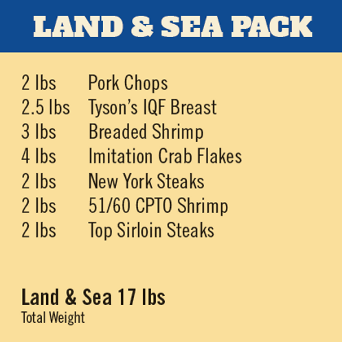 LAND & SEA MEAT PACK