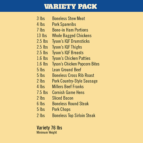 MEAT VARIETY PACK