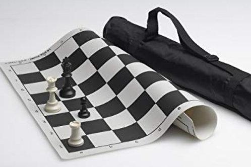 Scacchiera pieghevole con set scacchi + borsa