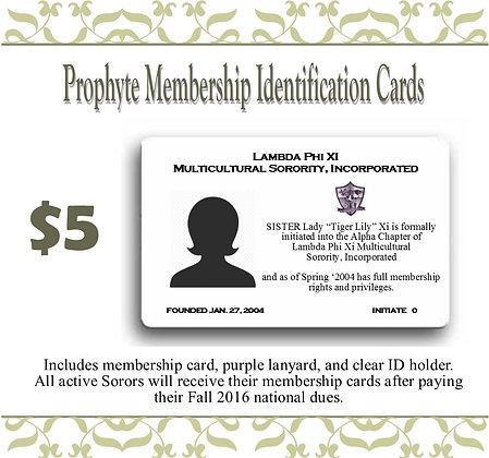 Prophyte Membership ID Card
