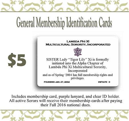 General Membership ID Card