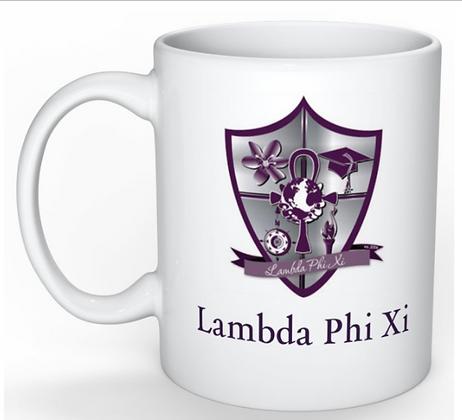Lambda Phi Xi Crest Coffee Mug
