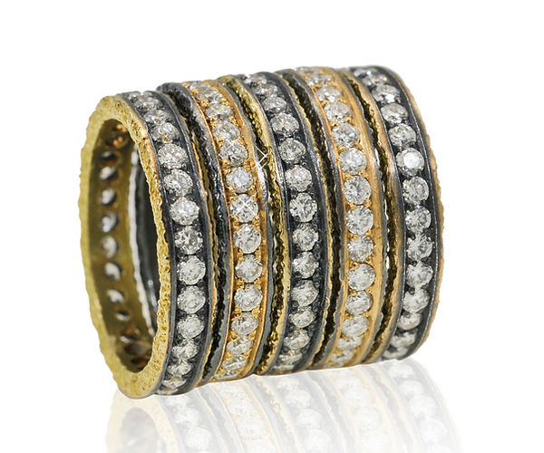la permanence, gold and black silver di