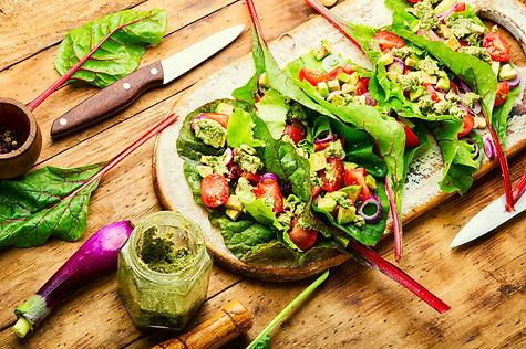 healthy-vegetable-salad-in-chard-leaves-