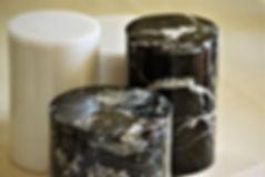 Zebra Black and White Carrara Marble Can