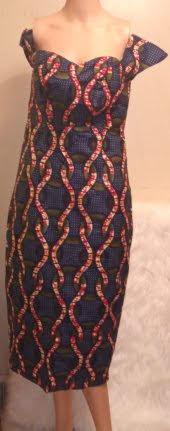 African Attire Short-Sleeve Dress