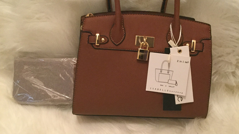 Fashion Satchel Padlock with Wallet