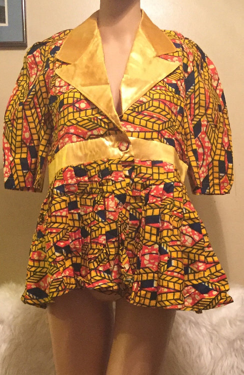 African  super print Jacket  churchy gown for  ladies