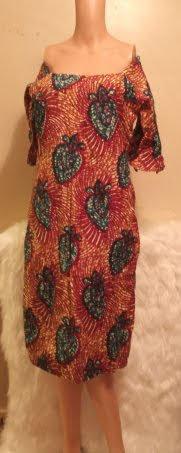 African Attire Shoulder Sleeve Dress