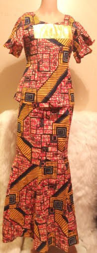 African Traditional Skirt-suit