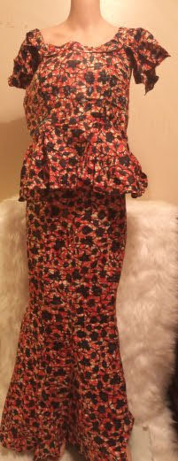 African Traditional Attire Skirt-Suit