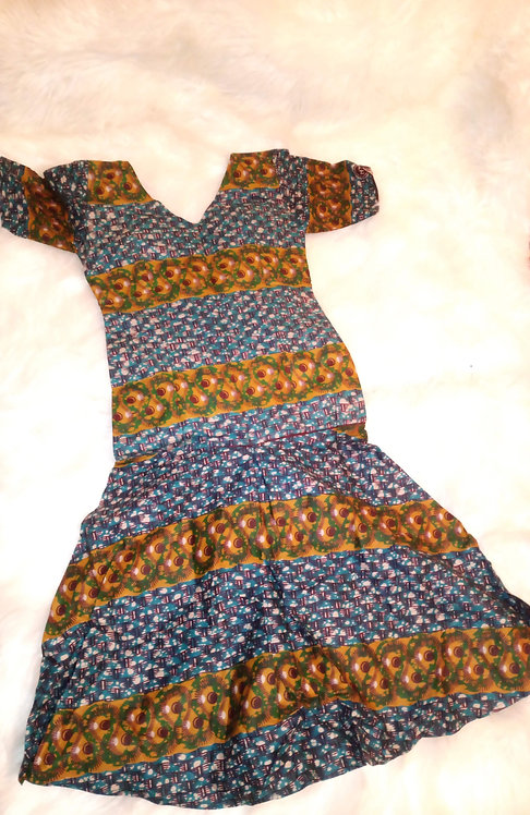African Ankara Dress For Girls