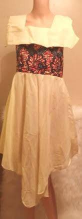 African Silk Top Crop Bottom Skirt Fabric Tie Torso