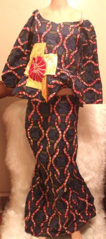 African Traditional Blouse Top Skirt