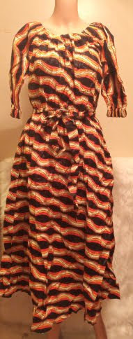 African Traditional Mid-Sleeve Attire Dress