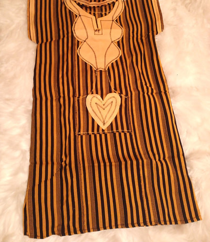African Country Cloth Dress